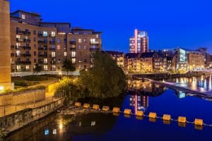 Leeds Canal at Night