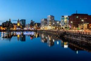 Skyline of Liverpool docks